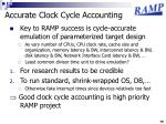 accurate clock cycle accounting