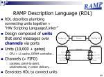ramp description language rdl
