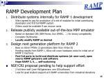 ramp development plan