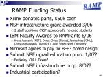 ramp funding status