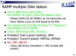 ramp multiple isas status