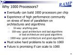 why 1000 processors