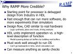 why ramp more credible