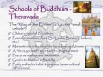 schools of buddhism theravada