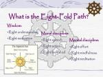 what is the eight fold path