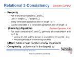 relational 2 consistency dechter def 8 2