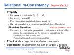 relational m consistency dechter def 8 3