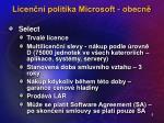 licen n politika microsoft obecn3