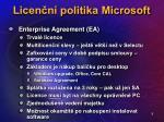 licen n politika microsoft