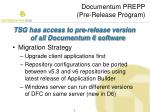 documentum prepp pre release program