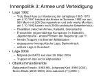 innenpolitik 3 armee und verteidigung