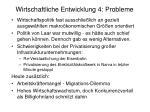 wirtschaftliche entwicklung 4 probleme