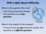 dok is not about difficulty1