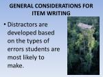 general considerations for item writing10