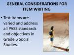 general considerations for item writing2