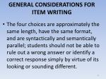 general considerations for item writing6