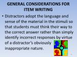 general considerations for item writing7