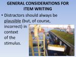 general considerations for item writing8