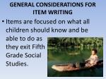 general considerations for item writing9