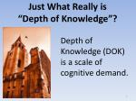 just what really is depth of knowledge