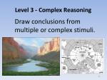 level 3 complex reasoning1