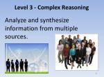 level 3 complex reasoning7