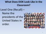 what does dok look like in the classroom