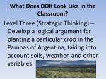 what does dok look like in the classroom6