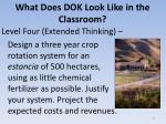 what does dok look like in the classroom7