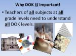 why dok is important