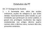 estatutos da pt