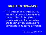 right to organise
