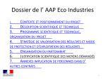 dossier de l aap eco industries
