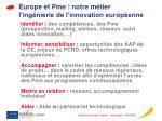 europe et pme notre m tier l ing nierie de l innovation europ enne
