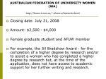 australian federation of university women wa http home it net au afuwwa bursaries html