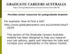 graduate careers australia http www graduatecareers com au content view full 40