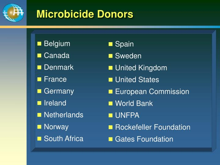Microbicide Donors