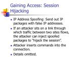 gaining access session hijacking