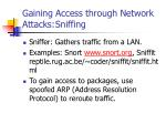 gaining access through network attacks sniffing