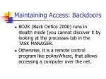 maintaining access backdoors1