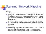 scanning network mapping