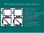 ba model with dynamic fitness