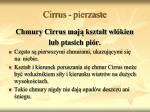 cirrus pierzaste
