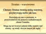 stratus warstwowe