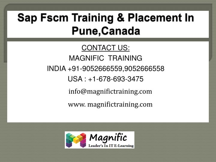 sap fscm training placement in pune canada n.
