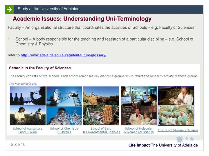 Academic Issues: Understanding Uni-Terminology
