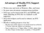 advantages of mozilla svg support over asv
