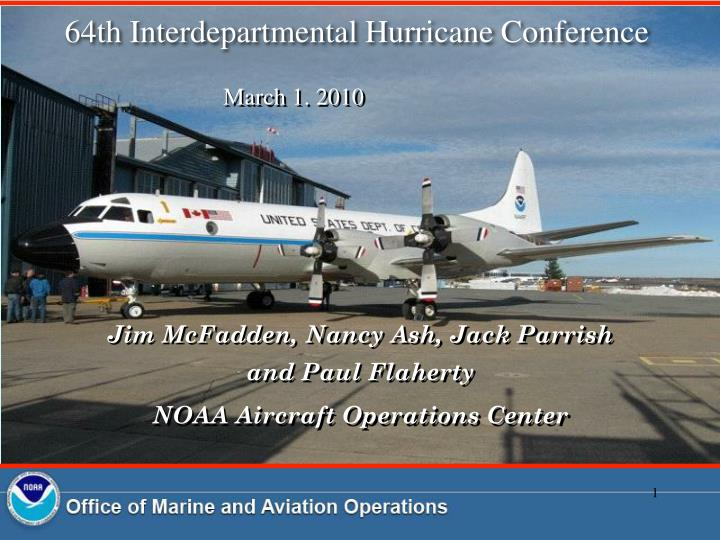 64th interdepartmental hurricane conference n.