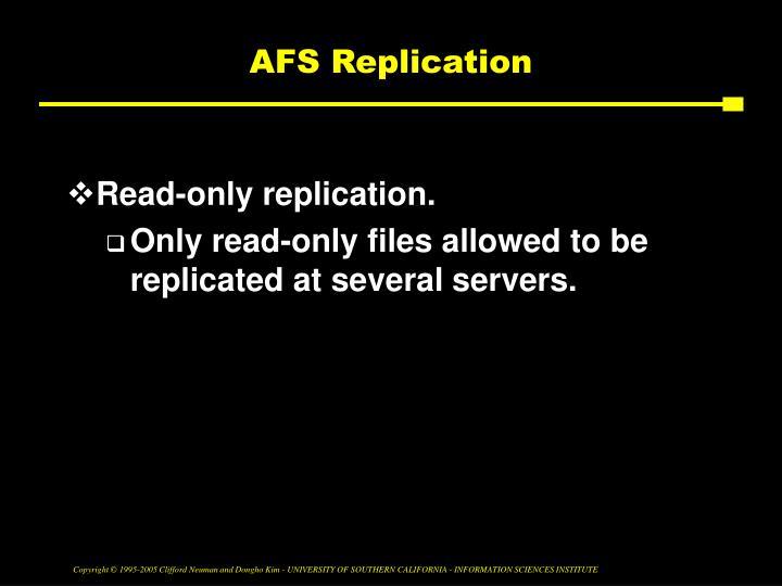 AFS Replication