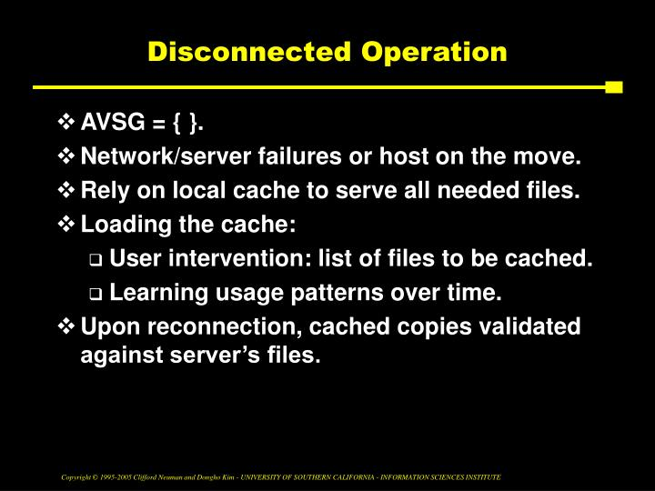 Disconnected Operation